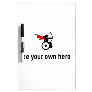Wheelchair Archery Hero Dry Erase Board