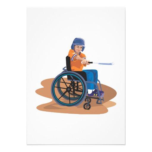 Wheelchair Baseball Personalized Invites