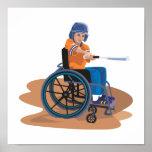Wheelchair Baseball Print