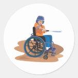 Wheelchair Baseball Sticker
