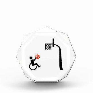 Wheelchair basketball acrylic award