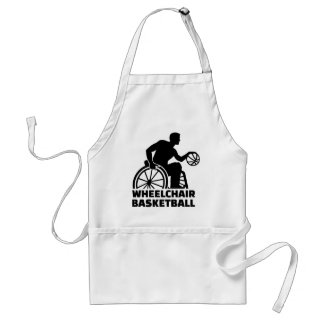 Wheelchair basketball adult apron