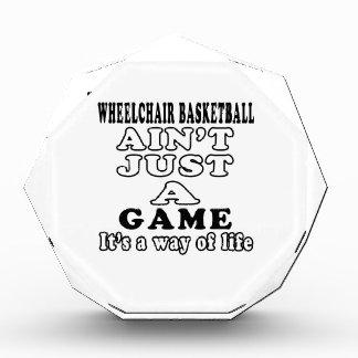 Wheelchair Basketball Ain t Just A Game Acrylic Award