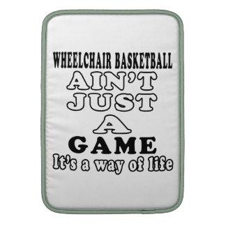 Wheelchair Basketball Ain't Just A Game Sleeve For MacBook Air