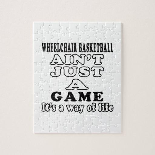 Wheelchair Basketball Ain't Just A Game Jigsaw Puzzles