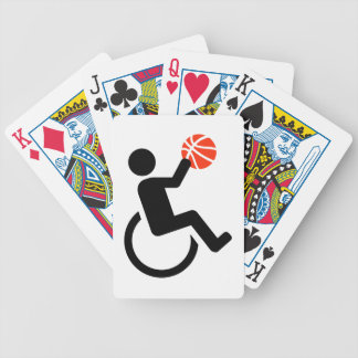 Wheelchair basketball bicycle playing cards