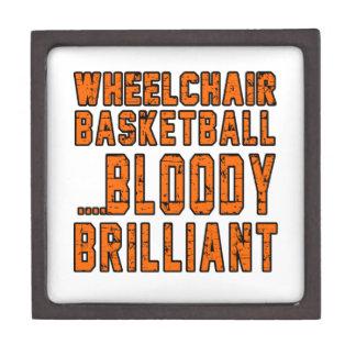 Wheelchair Basketball Bloody Brilliant Premium Trinket Box