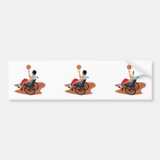 wheelchair basketball bumper stickers