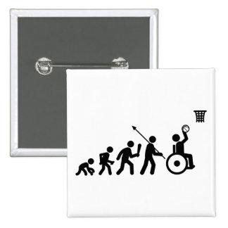Wheelchair Basketball Button