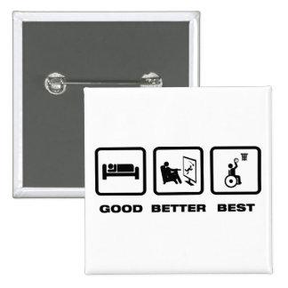 Wheelchair Basketball Pinback Button