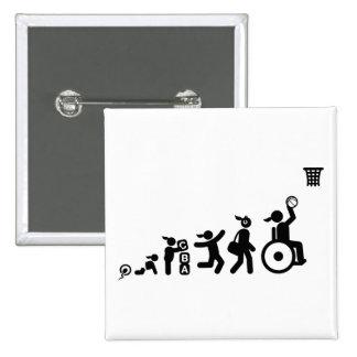 Wheelchair Basketball Pinback Buttons