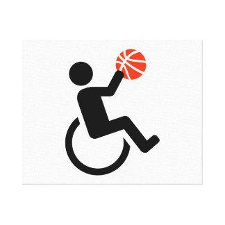 Wheelchair basketball canvas print