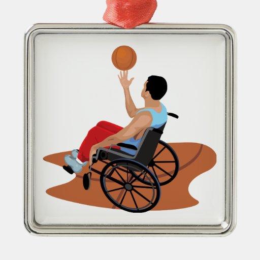 wheelchair basketball christmas ornaments