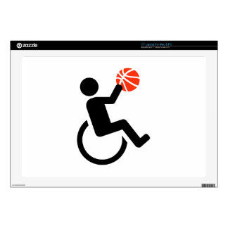 """Wheelchair basketball decal for 17"""" laptop"""