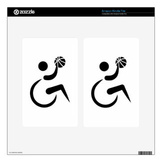 Wheelchair basketball decal for kindle fire