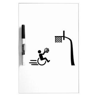 Wheelchair basketball Dry-Erase board