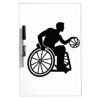 Wheelchair basketball dry erase board