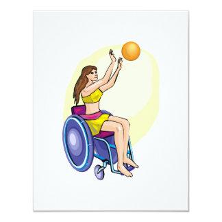 Wheelchair Basketball Girl Card