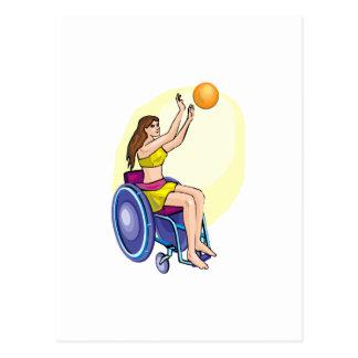 Wheelchair Basketball Girl Postcard