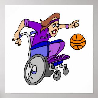 Wheelchair basketball girl poster
