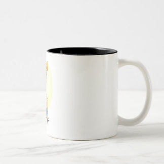 Wheelchair Basketball Girl Two-Tone Coffee Mug