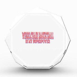 Wheelchair Basketball is my superpower Acrylic Award