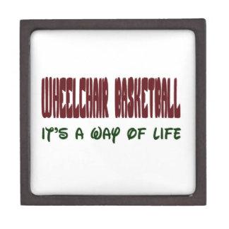 Wheelchair basketball It's a way of life Premium Keepsake Box