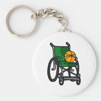 Wheelchair Basketball Keychain