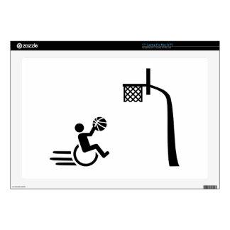 Wheelchair basketball laptop decals