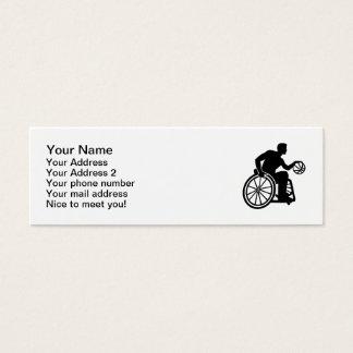 Wheelchair basketball mini business card