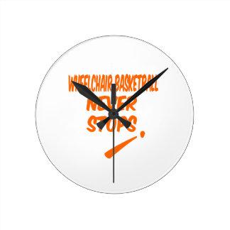 Wheelchair Basketball Never Stops Round Clocks