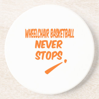 Wheelchair Basketball Never Stops Drink Coasters
