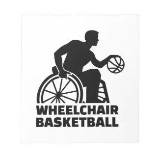 Wheelchair basketball notepad