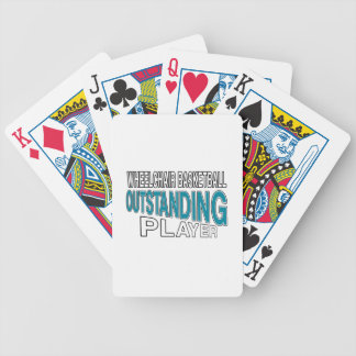 WHEELCHAIR BASKETBALL OUTSTANDING PLAYER BICYCLE PLAYING CARDS