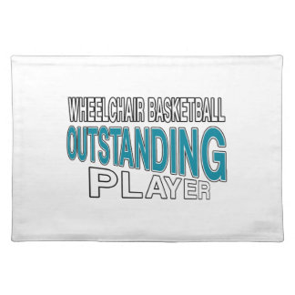 WHEELCHAIR BASKETBALL OUTSTANDING PLAYER CLOTH PLACEMAT