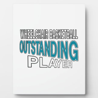 WHEELCHAIR BASKETBALL OUTSTANDING PLAYER PLAQUE