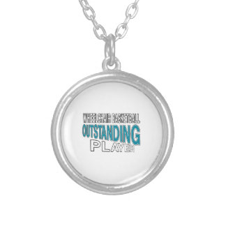 WHEELCHAIR BASKETBALL OUTSTANDING PLAYER SILVER PLATED NECKLACE