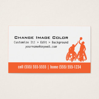 Wheelchair Basketball - Personal Business Card