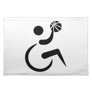 Wheelchair basketball placemat