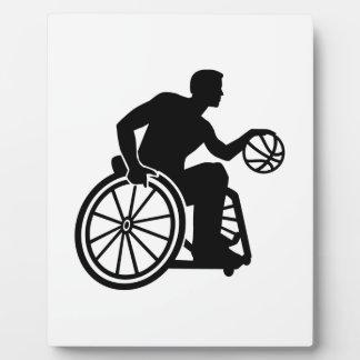 Wheelchair basketball plaque
