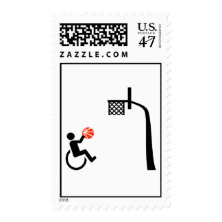 Wheelchair basketball postage