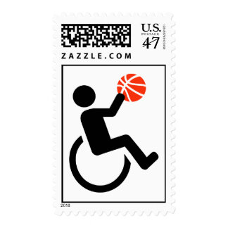 Wheelchair basketball postage stamp