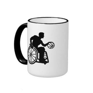 Wheelchair basketball ringer mug