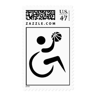 Wheelchair basketball stamp