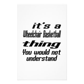 Wheelchair Basketball Thing Designs Stationery