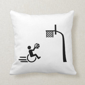 Wheelchair basketball throw pillow