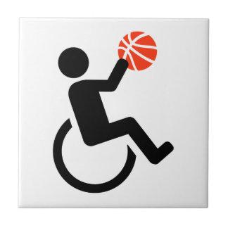 Wheelchair basketball tile