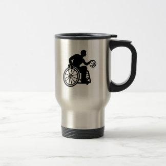 Wheelchair basketball travel mug