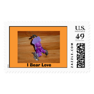 Wheelchair Bear; Get Well Bear Postage Stamp