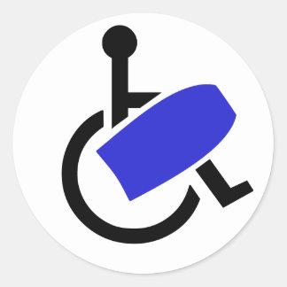 Wheelchair Bodyboarder Round Sticker